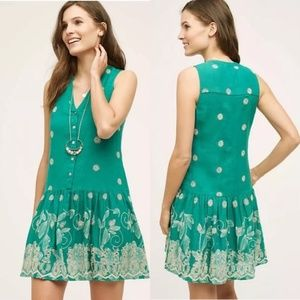 Maeve Pippa Swing Eyelet Embroidered Dress Large